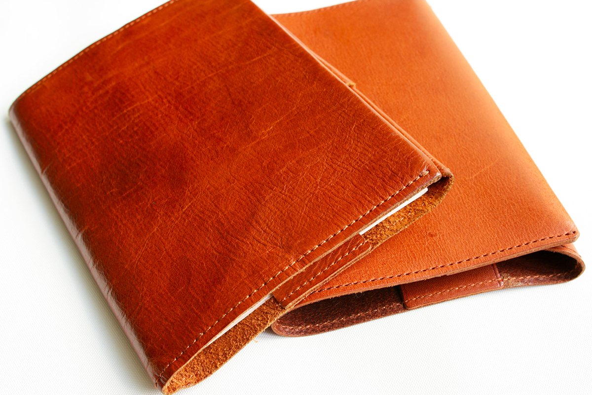 BOOK COVER BASIC brown エイジング